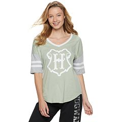 Juniors' Harry Potter Hogwarts Crest Football Graphic Tee