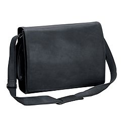 Natico New Yorker Napa Leather Computer Messenger Bag