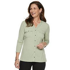 Women's Croft & Barrow® Print Shirt