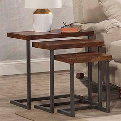 Hillsdale Furniture Emerson 3 Nesting Table Set