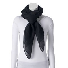 Women's Apt. 9® Solid Pleated Square Scarf