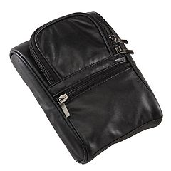 Natico Napa Leather Travel Accessory and Golf Pouch