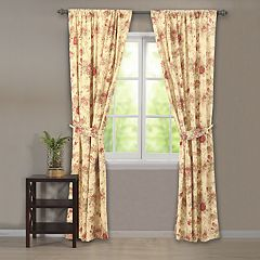 Greenland Home Fashions Antique Rose Window Curtain Set