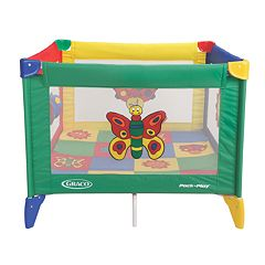 Graco Pack 'n Play Play Yard Bugs Quilt by