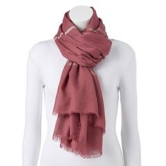 Women's LC Lauren Conrad Striped Oversized Wrap Scarf