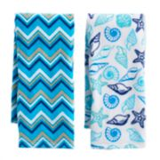 Mainstreet Pattern Seashell Kitchen Towel 2-pack