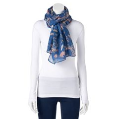 Women's LC Lauren Conrad Bicycles & Leaves Oversized Scarf