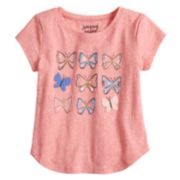 Toddler Girl Jumping Beans® Graphic Curved Hem Tee