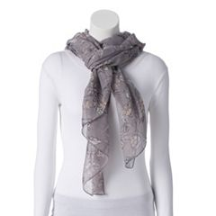 Women's LC Lauren Conrad Folk Blooms Oversized Wrap Scarf