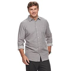 Big & Tall SONOMA Goods for Life™ Supersoft Double-Weave Button-Down Shirt