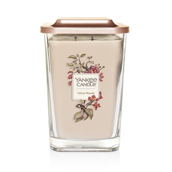 Yankee Candle Elevation Collection Velvet Woods Large Square Candle