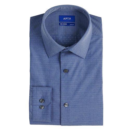 Men's Apt. 9® Slim-Fit HEIQ Premium Flex No-Iron Dress Shirt