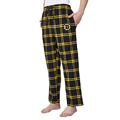 Men's Boston Bruins Homestretch Flannel Lounge Pants