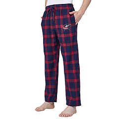 Men's Columbus Blue Jackets Homestretch Flannel Lounge Pants
