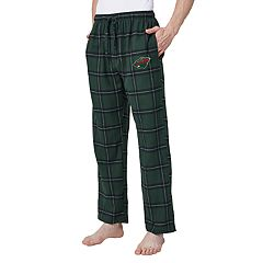 Men's Minnesota Wild Homestretch Flannel Lounge Pants