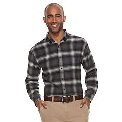 Men's Croft & Barrow® Classic-Fit Patterned Flannel Button-Down Shirt