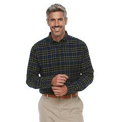 Men's Croft & Barrow® Classic-Fit Patterned Flannel Button-Down Shirt