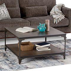 Simpli Home Nantucket Square Coffee Table