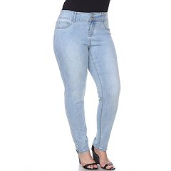 Plus Size White Mark High Rise Skinny Jeans