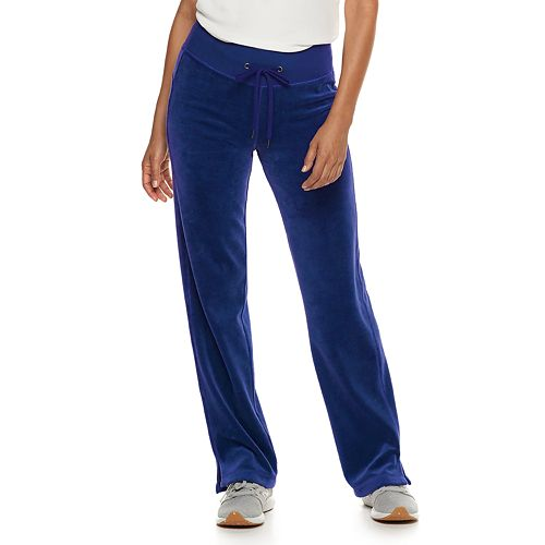 Petite Tek Gear® Velour Mid-Rise Sweatpants