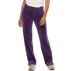 Petite Tek Gear® Velour Mid-Rise Sweatpants