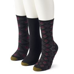 Women's GOLDTOE® 3-Pack Floral Crew Socks