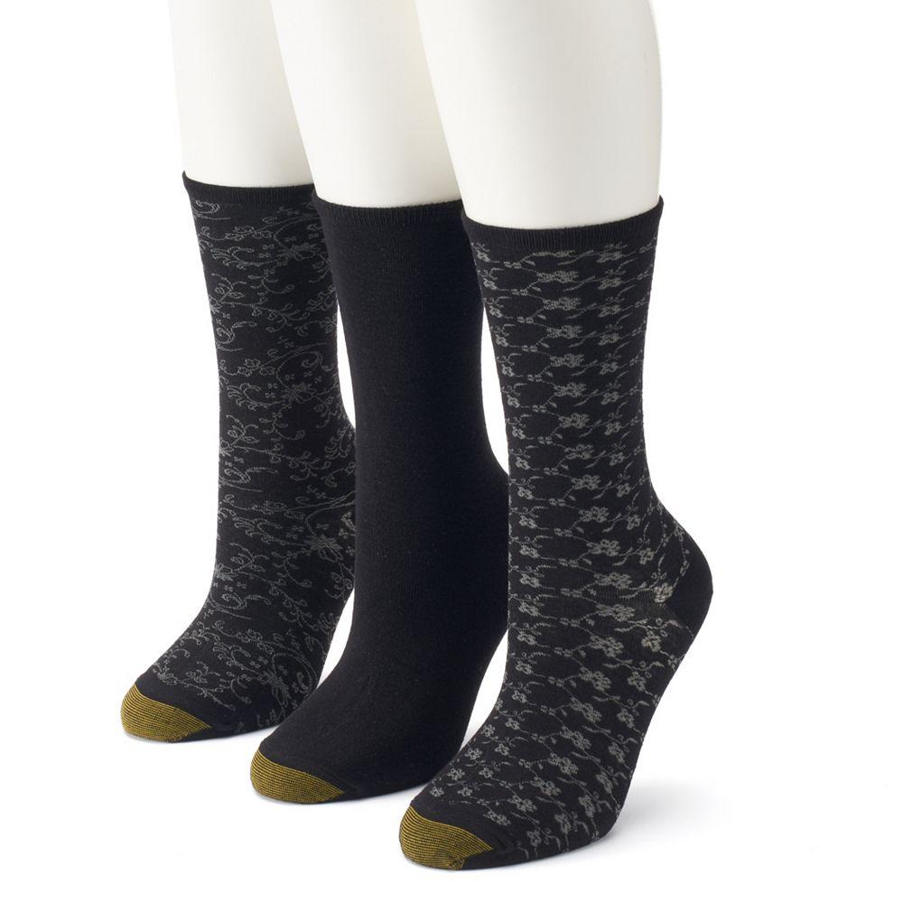 Women's GOLDTOE® 3-Pack Floral Crew Socks