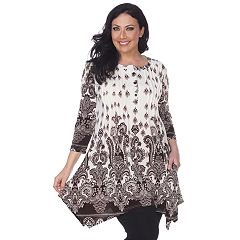 Plus Size White Mark Paisley Tunic Top