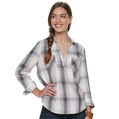 Juniors' Mudd® Plaid Popover Tunic
