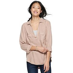Juniors' Mudd® Solid Popover Tunic