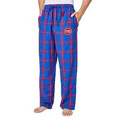 Men's Detroit Pistons Homestretch Flannel Lounge Pants