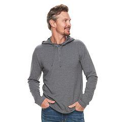 Men's SONOMA Goods for Life™ Slim-Fit Supersoft Henley Hoodie