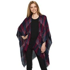 Women's Apt. 9® Plaid Ruana