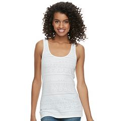 Juniors' SO® Textured Double Scoop Tank