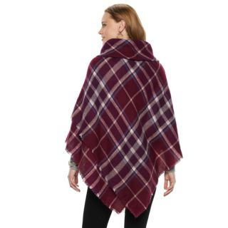 Women's Apt. 9® Plaid Cowlneck Poncho