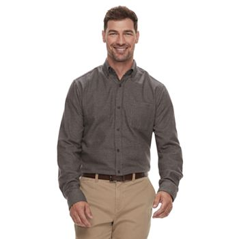 Croft & Barrow Men&#39s Slim-Fit Flannel Button-Down Shirt
