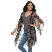 Women's Apt. 9® Lightweight Chiffon Floral Kimono
