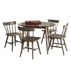 Hillsdale Furniture Mayson 5-piece Round Dining Table & Spindle Chair Set