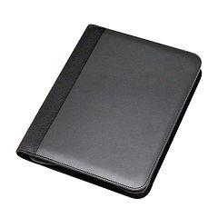 Natico 10.5' x 13' Black Zippered Portfolio