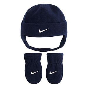 39cb8be666ee97 Original. $22.00. Baby Boy Nike Navy Blue Fleece Trapper Hat ...