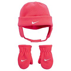 Toddler Girl Nike Fleece Trapper Hat & Mittens Set