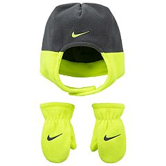 Toddler Boy Nike Fleece Trapper Hat & Mittens Set