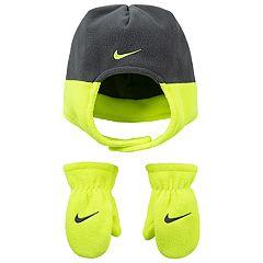 Toddler Boy Nike Fleece Trapper Hat & Mittens Set
