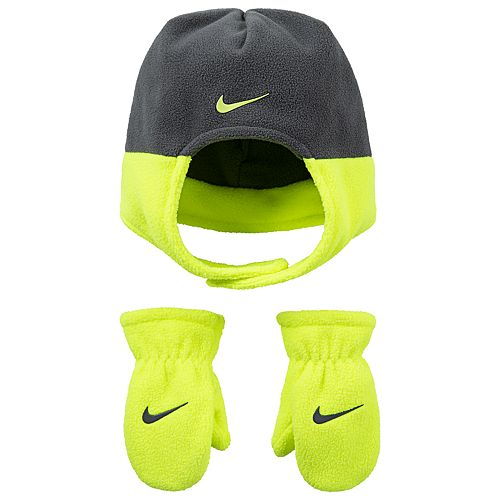 Toddler Boy Nike Fleece Trapper Hat   Mittens Set bcc61609a41