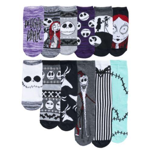 Disney's The Nightmare Before Christmas Women's 12 Days Of Socks Advent Calendar Set