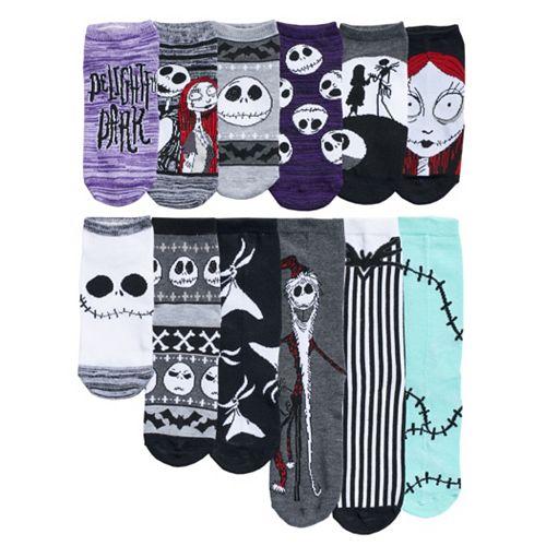12 Days Of Christmas Socks.Disney S The Nightmare Before Christmas Women S 12 Days