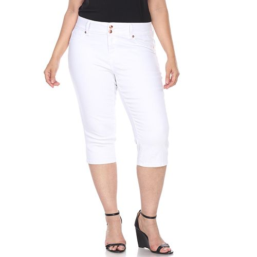 Plus Size White Mark High Rise Skinny Capris