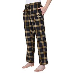 Men's New Orleans Saints Home Stretch Flannel Pajama Pants