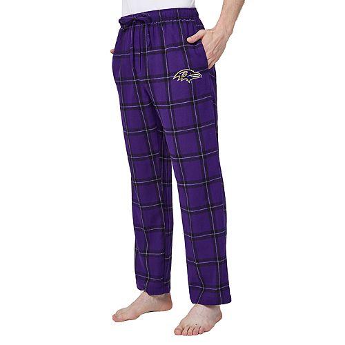 52516088b55 Men s Baltimore Ravens Home Stretch Flannel Pajama Pants