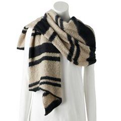 Women's Chaps Boucle Striped Blanket Scarf
